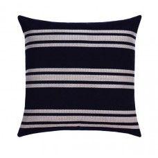 Sunbrella Hampton Indigo Blue Outdoor Stripe Pillow