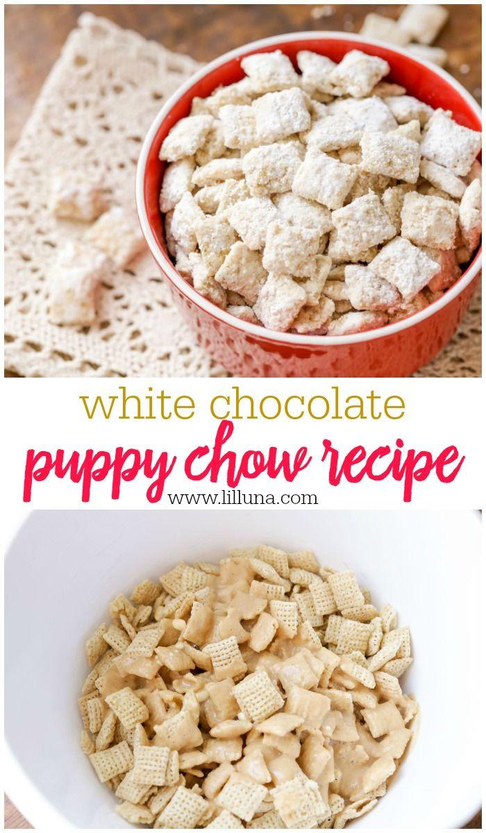 White Chocolate Puppy Chow Recipe White Chocolate Puppy Chow Recipe White Chocolate Chex Mix Puppy Chow Recipes