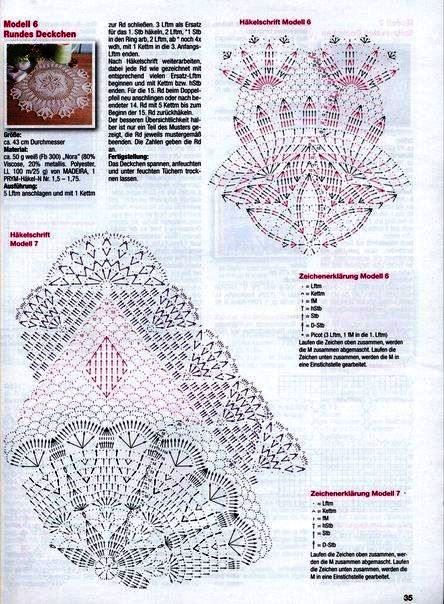 2626 best carpetas d crochet images on Pinterest | Crochet doilies ...