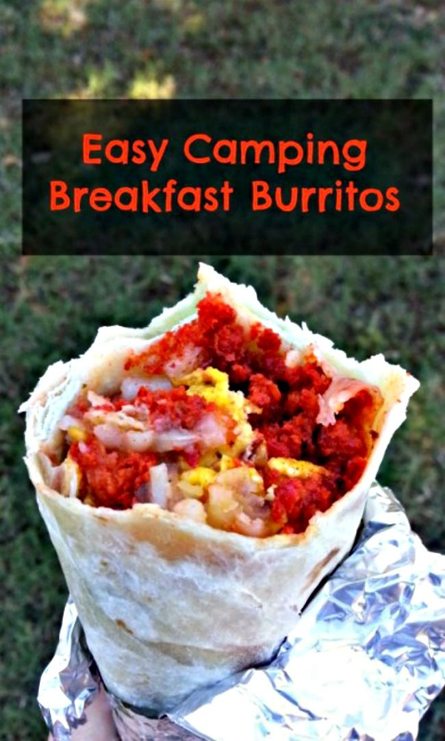 These easy camping breakfast burritos as prefect for your next campout or indoor sleepover. They're made ahead and heated just before breakfast