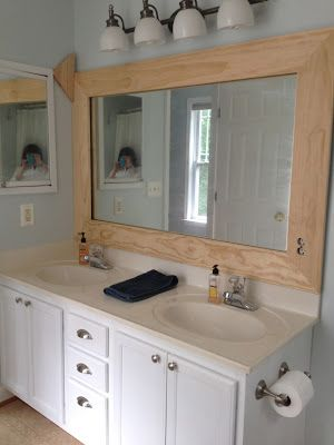 Wooden Bathroom Mirror Frame from KregJig.ning.com