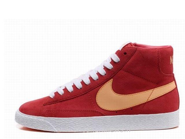 Nike Blazer High Premium cru de femmes de suède rouge-Total Oran Basket Nike  Blazer