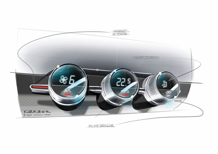 Audi Crosslane Coupe Concept - AC Controls Design Sketch