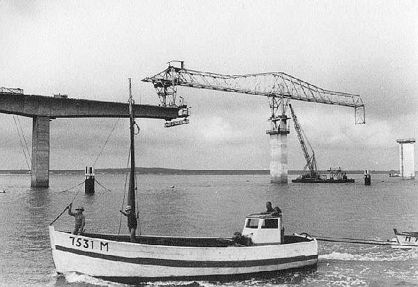 1964 1966 construction du viaduc de l'ile d'Oleron Campenon Bernard