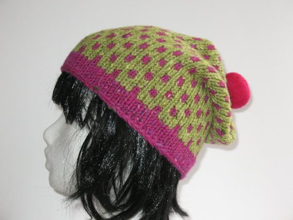 Pure Irish Wool Slouchy Hat by TissaGibbons on Etsy, €25.00
