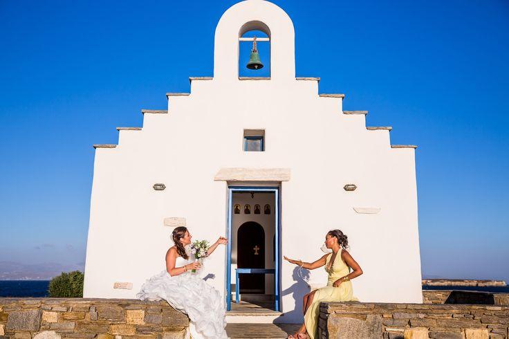 orthodox ceremony wedding paros greece seaside church golden beach little seaside church