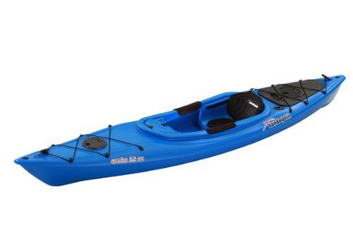 The Sun Dolphin Aruba SS Sit-in Kayak is great for lakes and rivers . Made from rugged UV-stabilized Fortiflex High Density Polyethylene, this kayak tracks and paddles with ease while offering maximum stability. Lightweight with retractable carrying handles, this kayak also for easy transport. A...