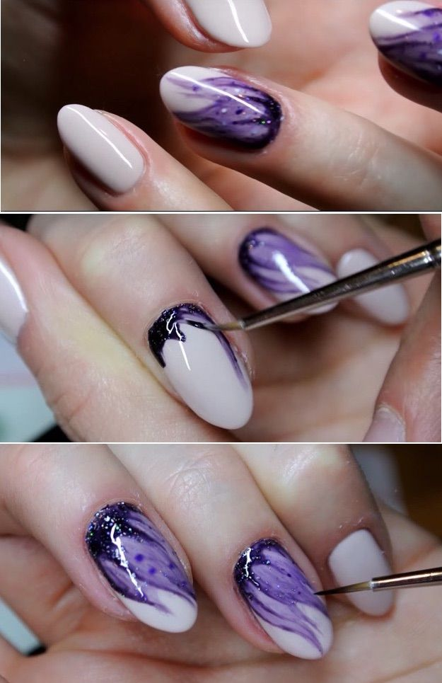 Super Easy Nail Art Ideas for Beginners – Hybrydowe Blur nails easy nailart Neon…