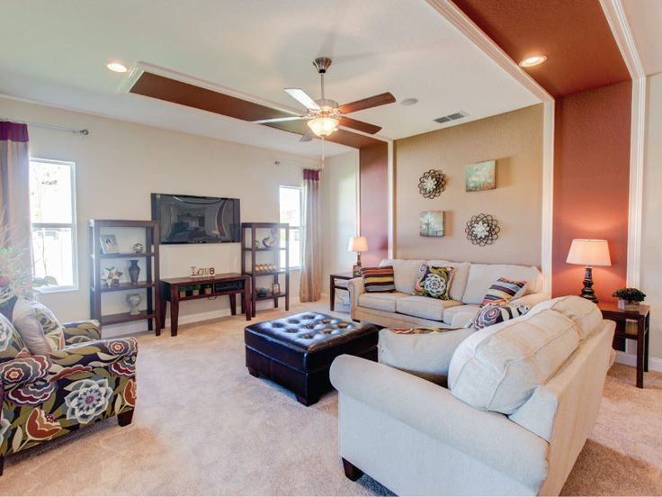 Highland Homes  Wyatt model home in Apopka  Florida. 103 best images about Great Gathering Spaces on Pinterest   Lakes
