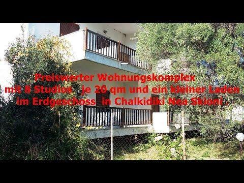 Preiswerte Wohnungskomplex mit 8 Studios   je 20 qm und ein kleiner Lade...