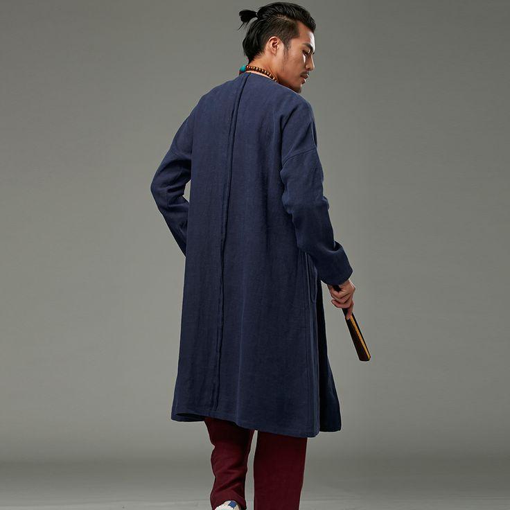 Stile cinese di abbigliamento maschile tuta sportiva o collo cardigan fluido dell'annata trincea in Stile cinese di abbigliamento maschile tuta sportiva o-collo cardigan fluido dell'annata trincea Lunghezza: 113 da Parti superiori su AliExpress.com | Gruppo Alibaba