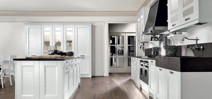 Scopri Gioiosa, la nostra cucina classica componibile che mette d'accordo gli amanti del classico più puro e i gusti più moderni con una veste contemporanea