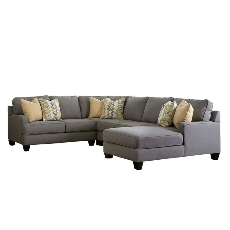 Tufted Sofa Signature Design by Ashley Furniture Chamberly Piece Sectional Sofa in Alloy