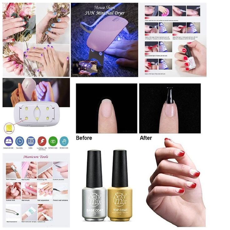 home Sexy Mix Gel Nail Kit, containing all used manicure tools DIY & be suitable #SEXYMIX