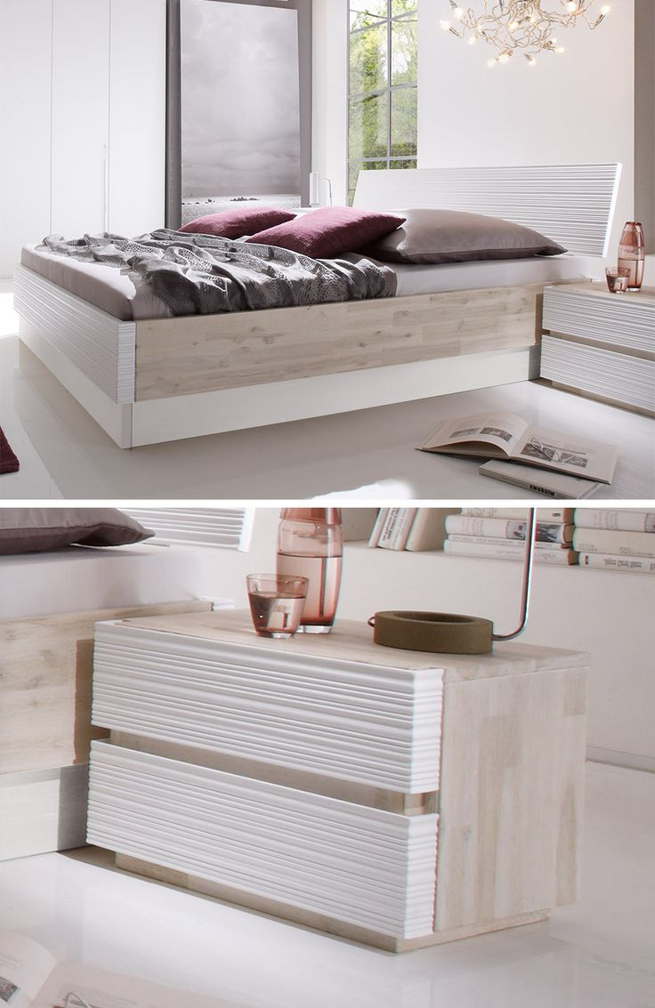 25 beste idee n over holzbett wei op pinterest. Black Bedroom Furniture Sets. Home Design Ideas
