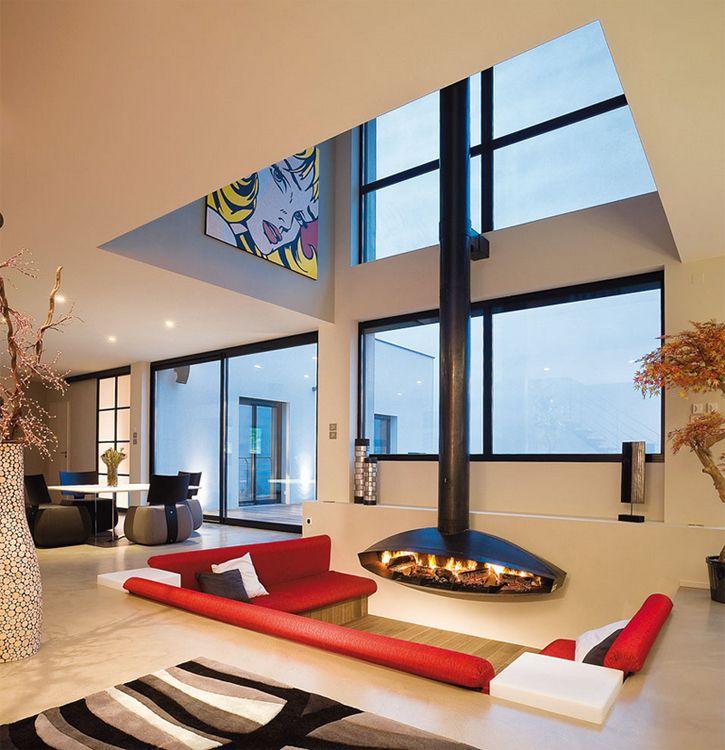 Design de salon: salon en contrebas pour rehausser son style!