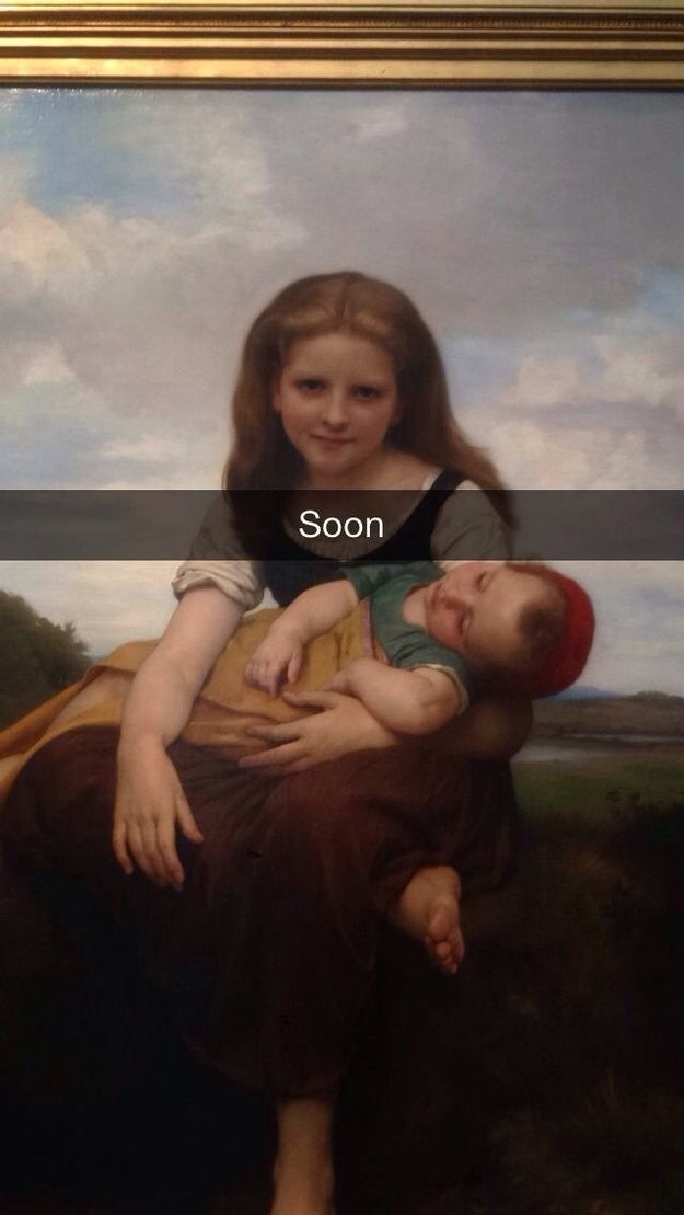 The Elder Sister has already killed once, and next she comes for you. / 16 More Hilariously Inappropriate Art History Snapchats (via BuzzFeed)