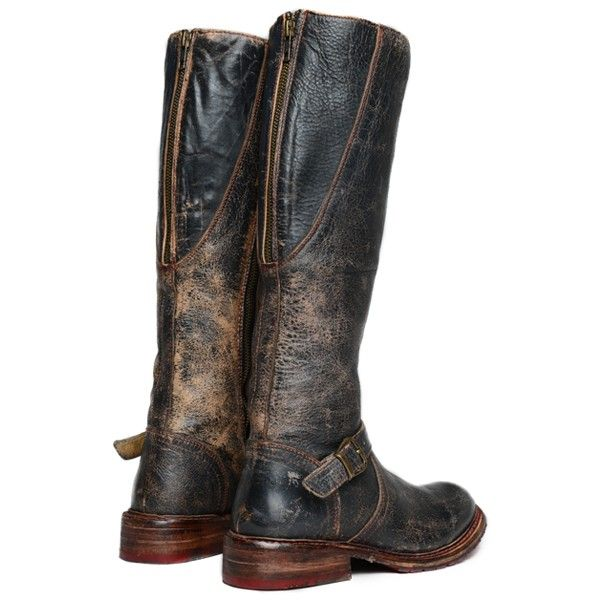 GLAYE - Distressed Finish Leather Womens Riding Boot - Bed|Stu I NEED THIS!