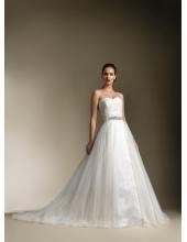 конфетка Любимые возлюбленной атласные тюль лентой с часовни поезд Свадебные платья