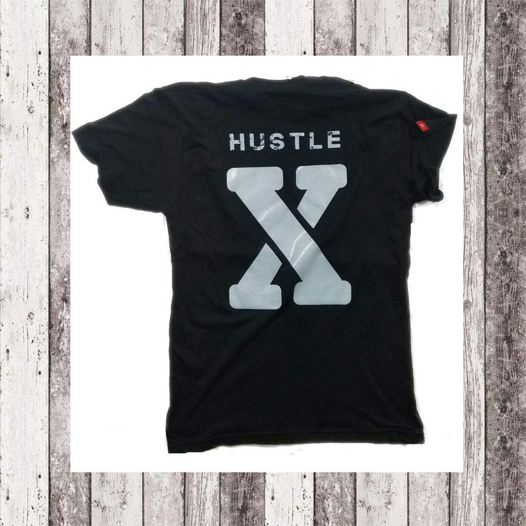 """""""Hustle-X Premium T"""" in black.  The """"X"""" on the back represents the roman numeral 10. It's to say that to get where you want to be you gotta put in 10 times more work and want it 10 times as much as the next person. Always keep your head down and in the game. // Our most luxurious and soft feel yet. Sewn in logo on right sleeve. What's Your Hustle ?® Now 40% off on www.MSCLT.com while supplies last.  // #MSCLT #whatsyourhustle"""