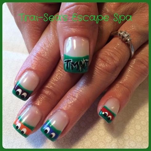 Teenage Mutant Ninja Turtles by TraiSeasEscape from Nail Art Gallery