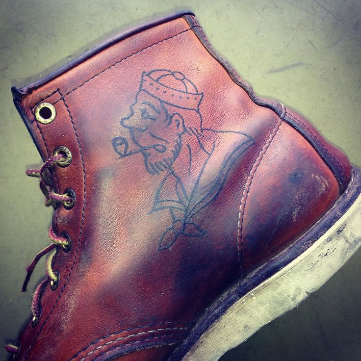 Red Wing 875 and one sailor