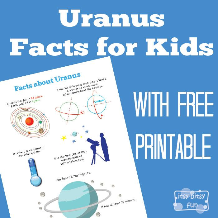 There are so many interesting facts about this planet! Let's learn with facts about Uranus for kids! We went through the solar system facts for kids the other day and now it's time to take a closer look at the planet that was a starting point for too many kid jokes when I was growing...Read More »