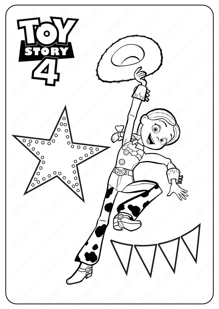 Toy Story 4 Jessie PDF Coloring Pages toystory toystory4