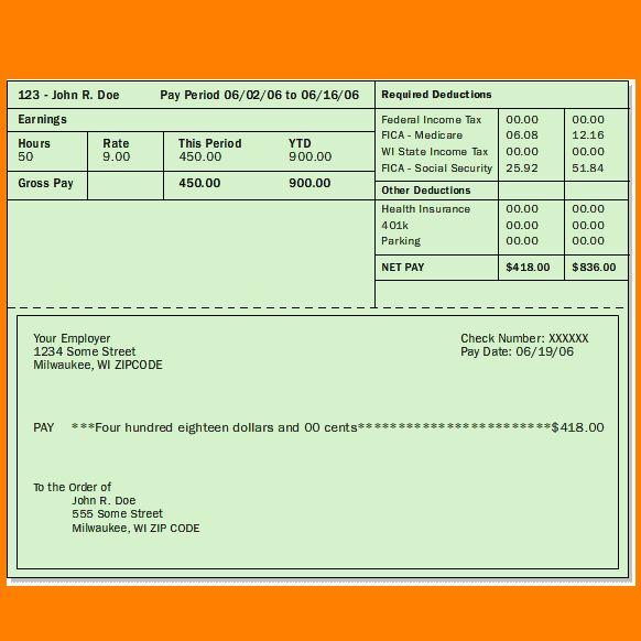 Free pay stub template word imagen891 #SampleResume #PayStubTemplateWord