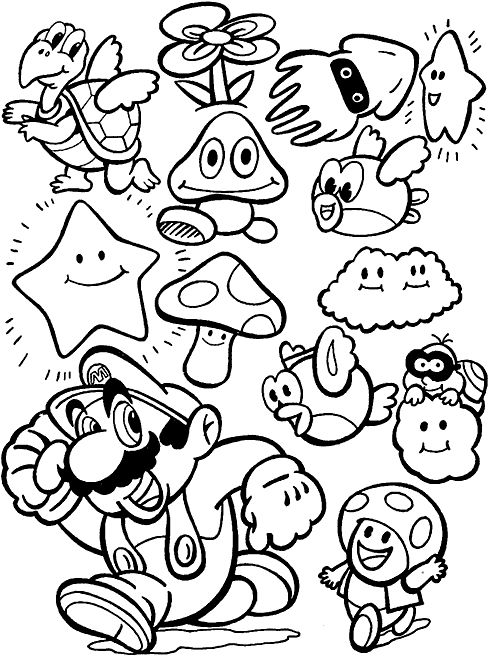 Mario colour pages