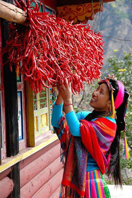 Hot stuff. Dried Chilis . Ya'an, China.
