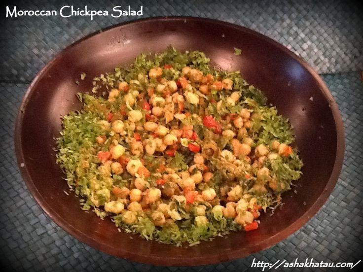 Moroccan Chickpea Salad #Epicure #AshaKhatau #Starters #Salads