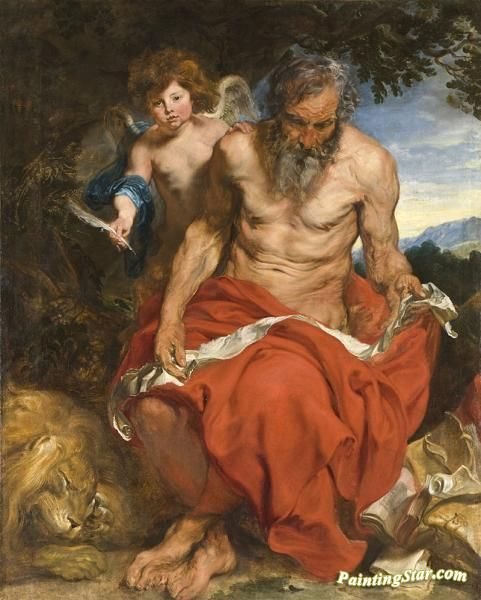 Saint jerome(heilige hieronymus) Artwork by Anthony van Dyck Hand-painted and Art Prints on canvas for sale,you can custom the size and frame