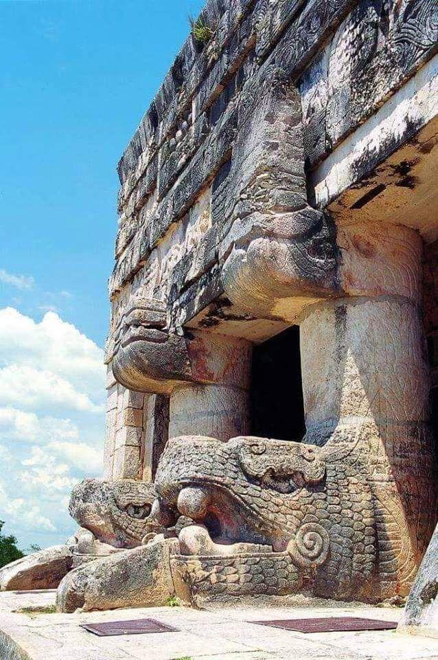 Templo de los Jaguares, Chichen Itzá, Yucatán, México.