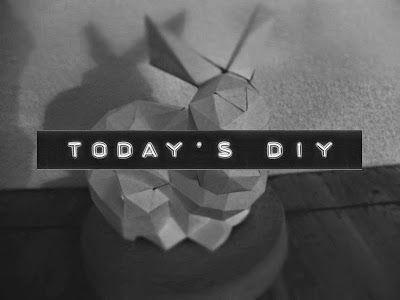 enidan's art: DIY ¦ da ist was im busch! keine panik ist nur ein 3D origamihase