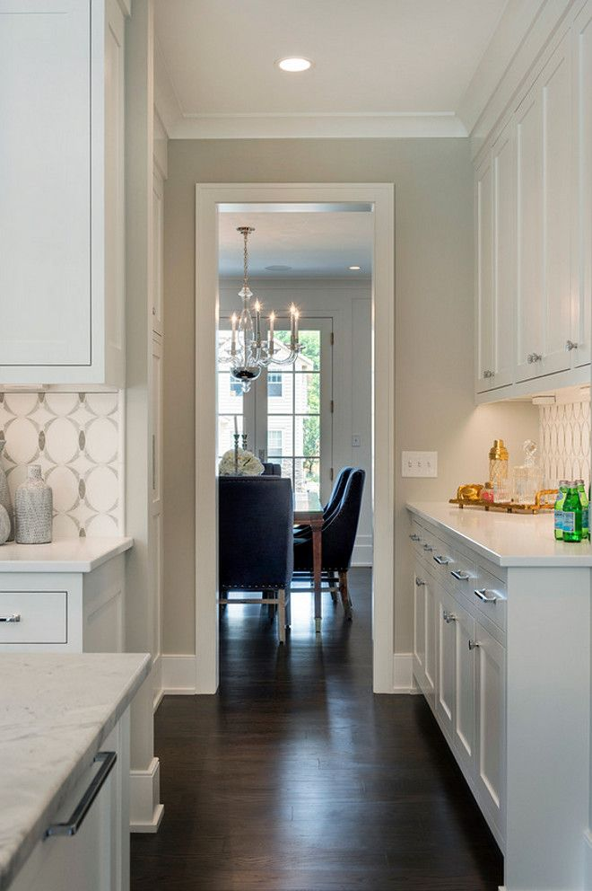 White Kitchen With Walls Painted Gray Owl U2013 Transitional U2013 Kitchen U2013  Benjamin Moore Gray Owl