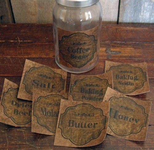 primitive crafts | Proper labels! These fantastic primitive looking craft labels can be ...