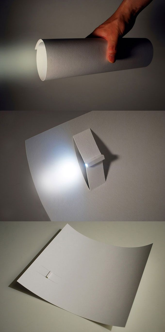 Paper LED torch