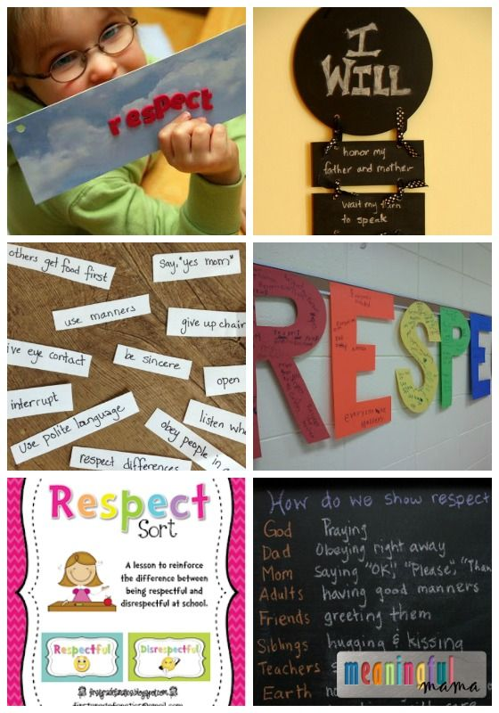 Teaching Kids to Show Respect - 20 Lessons and Activities And other Character development lessons