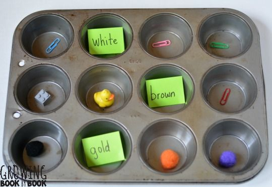 Need to learn color words? Try this muffin tin reading game that will color word recognition in a fun and easy way!
