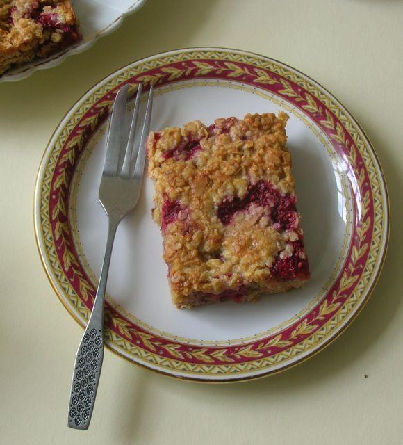 Raspberry and White Chocolate Flapjacks - a fabulous summer bake.
