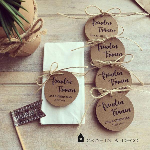 7 Diy Gastgeschenkideen Für Die Hochzeit Myprintcard: Die Besten 25+ Taschentücher Hochzeit Ideen Auf Pinterest