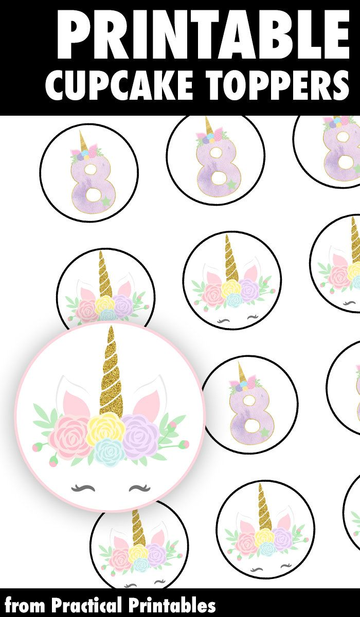 photograph regarding Unicorn Cupcake Toppers Printable referred to as Unicorn Cakes: unicorn horn cake topper printable