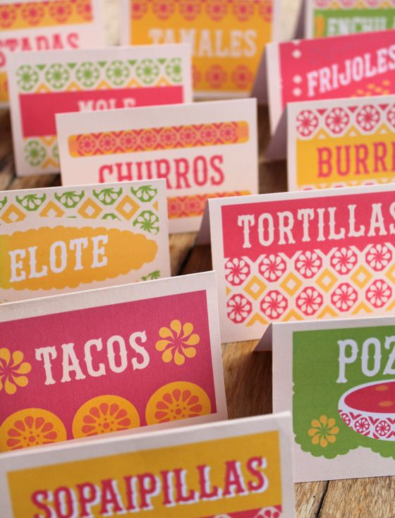 12 free mexican food signs to print out and make at home