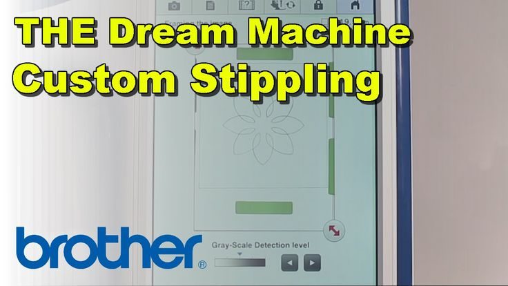 Brother Dream Machine Adding Stippling To Embroidery Design