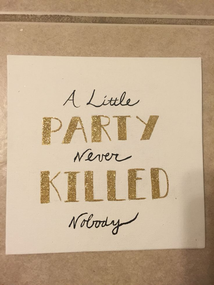 great gatsby canvas a little party never killed nobody black white gold decor signs. Black Bedroom Furniture Sets. Home Design Ideas