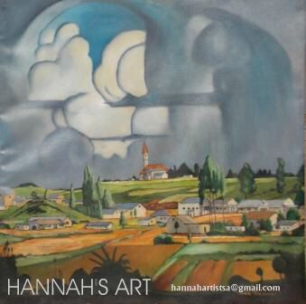 Artist: HANNAH, Tribute to Pierneef - Louis Trichardt, Oil on canvas, 600 x 600, Price on request.