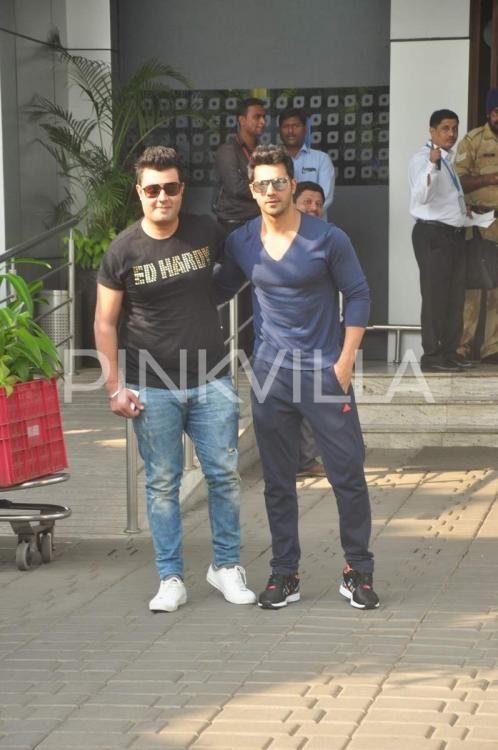 Varun Dhawan, Sonam Kapoor, Varun Sharma spotted at the airport | PINKVILLA