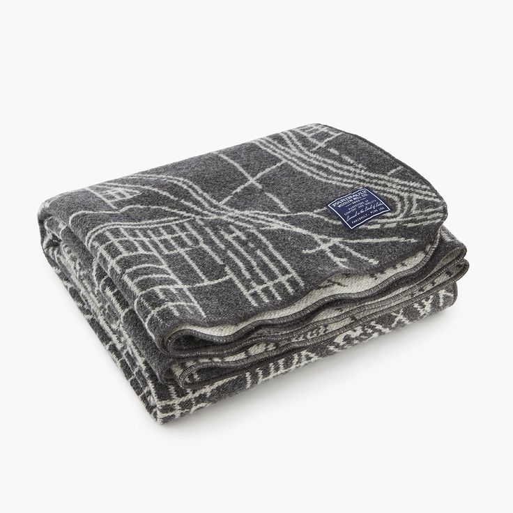 Minneapolis City Map Wool Throw - Charcoal/Smoke from @faribaultmill