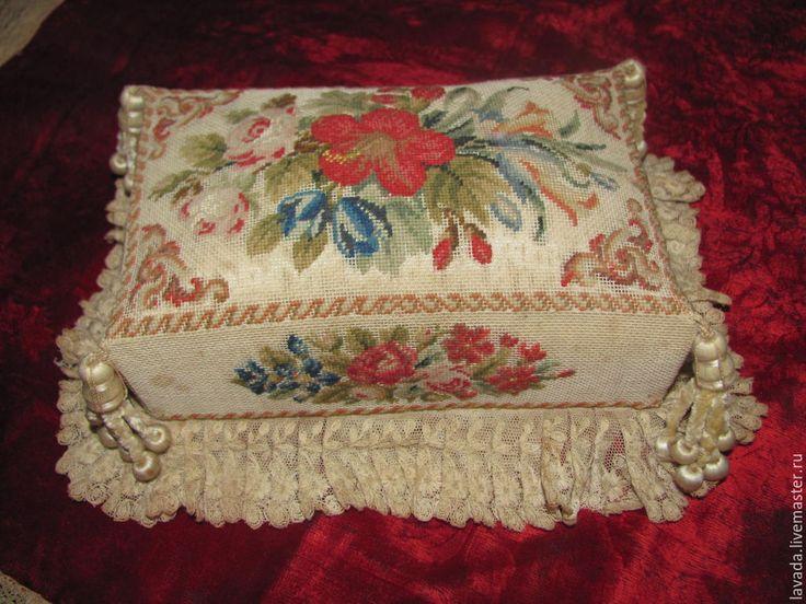 Купить ИГОЛЬНИЦА ВИКТОРИАНСКИЙ ПЕРИОД - разноцветный, антикварная игольница, викторианский период, редкий декор